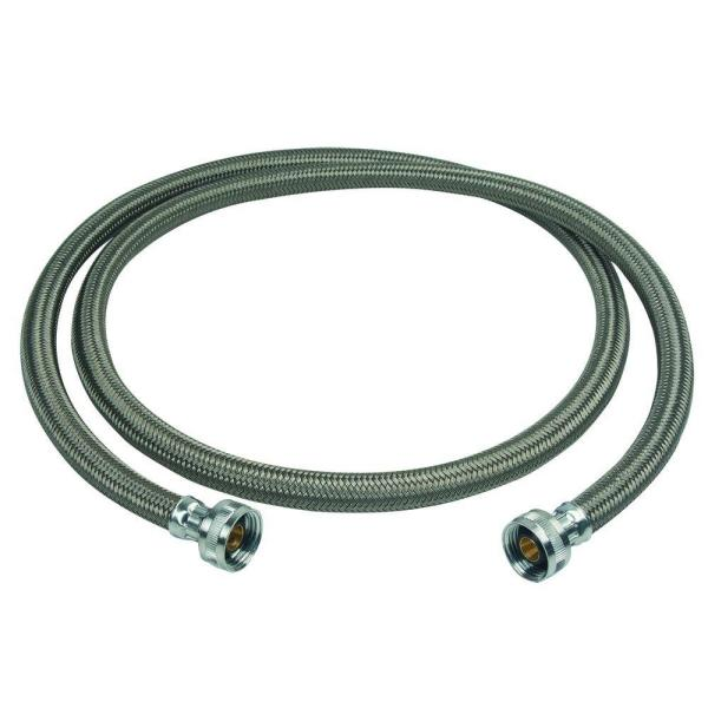 3/4 in. Female Hose Thread, Both Ends x 72 in. Braided Polymer Washing Machine Connector