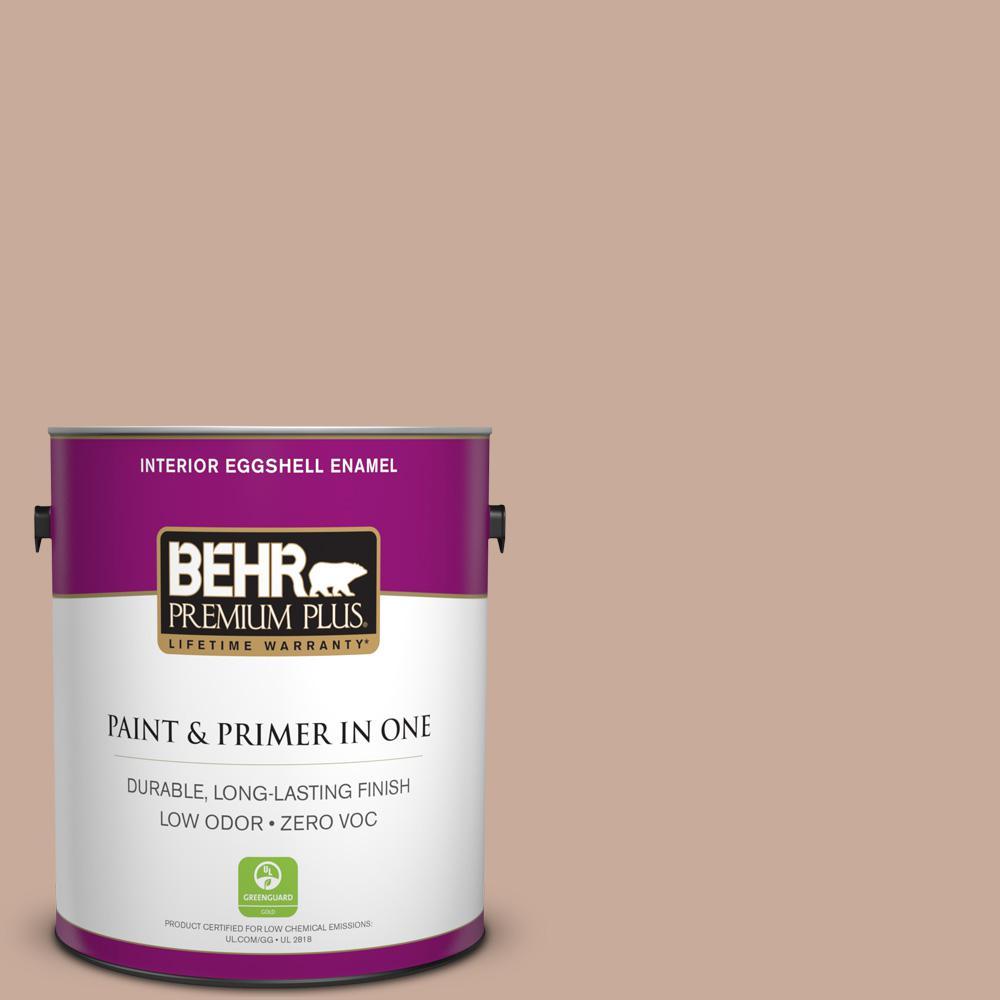 BEHR Premium Plus 1-gal. #ICC-97 Powdered Allspice Zero VOC Eggshell Enamel Interior Paint