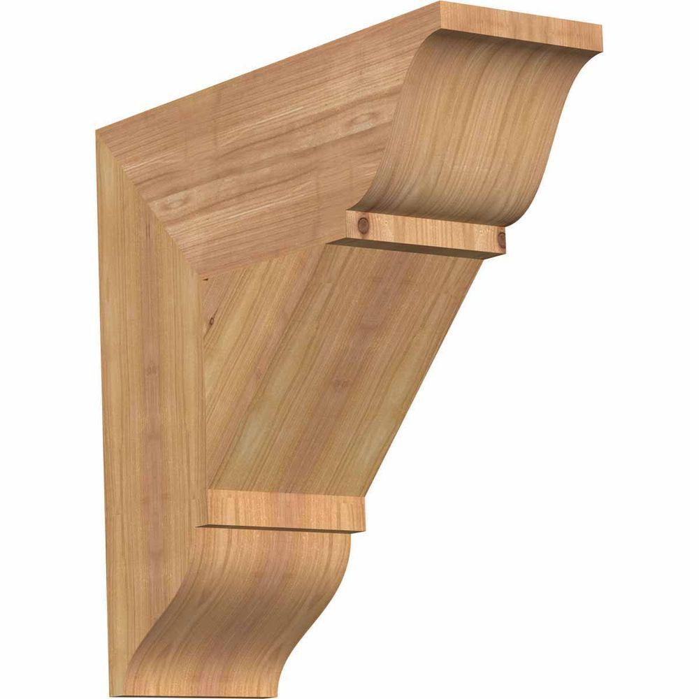 Ekena Millwork 5.5 in. x 18 in. x 18 in. Western Red Cedar Traditional Smooth Bracket