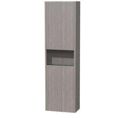 Diana 16-1/8 in. W x 56-1/8 in. H x 9-1/8 in. D Bathroom Storage Wall Cabinet in Grey Oak