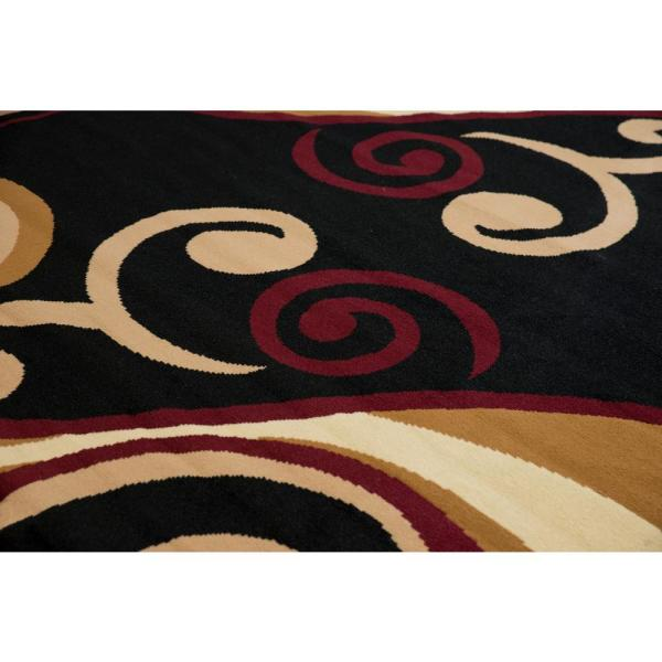 United Weavers Billow Burgundy 8 Ft X 11 Ft Indoor Area Rug 851 10534 912 The Home Depot
