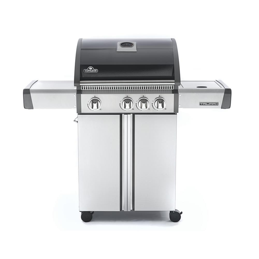 Triumph 410 4-Burner Propane Gas Grill in Black