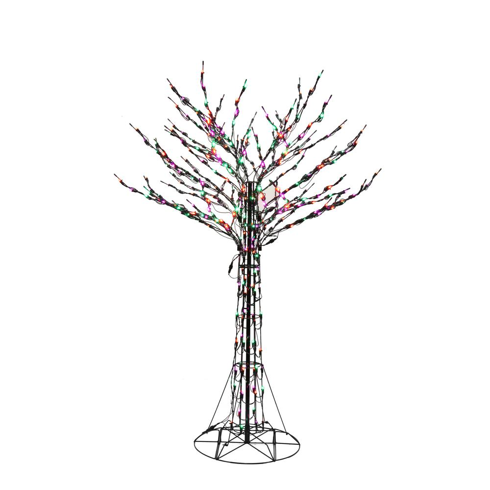 Home Accents Holiday 72 In. Orange/Green/Purple Led Twig