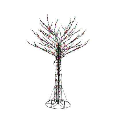 72 in orangegreenpurple led twig tree