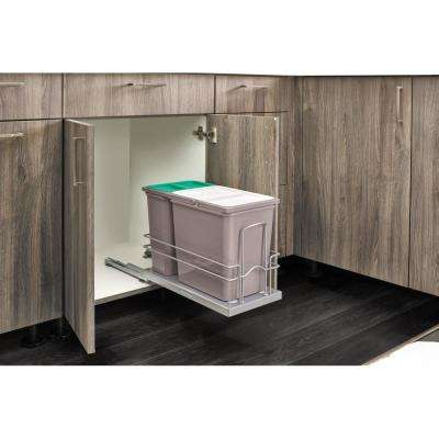 Sink Base Waste Pullout with (1) 15 L and (1) 8 L Waste Containers