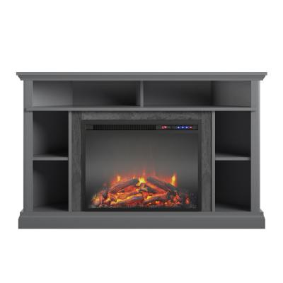 Parlor 47.625 in. Electric Corner Fireplace for TVs up to 50 in. in Graphite Gray