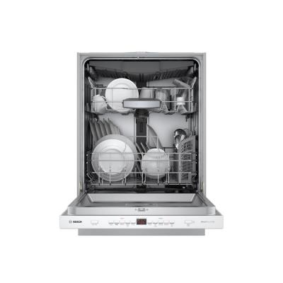 500 Series Top Control Tall Tub Pocket Handle Dishwasher in White with Stainless Steel Tub, AutoAir, 44dBA
