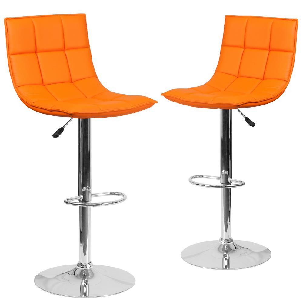45.5 in. Orange Barstool (Set of 2)
