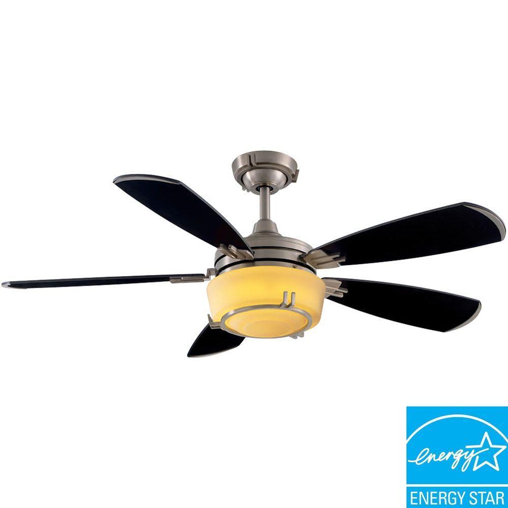 Hampton Bay Fulton 52 in. Indoor Brushed Nickel Ceiling Fan-DISCONTINUED