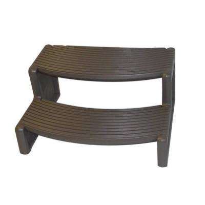29 in. W x 14 in. H Hot Tub Steps in Charcoal Gray
