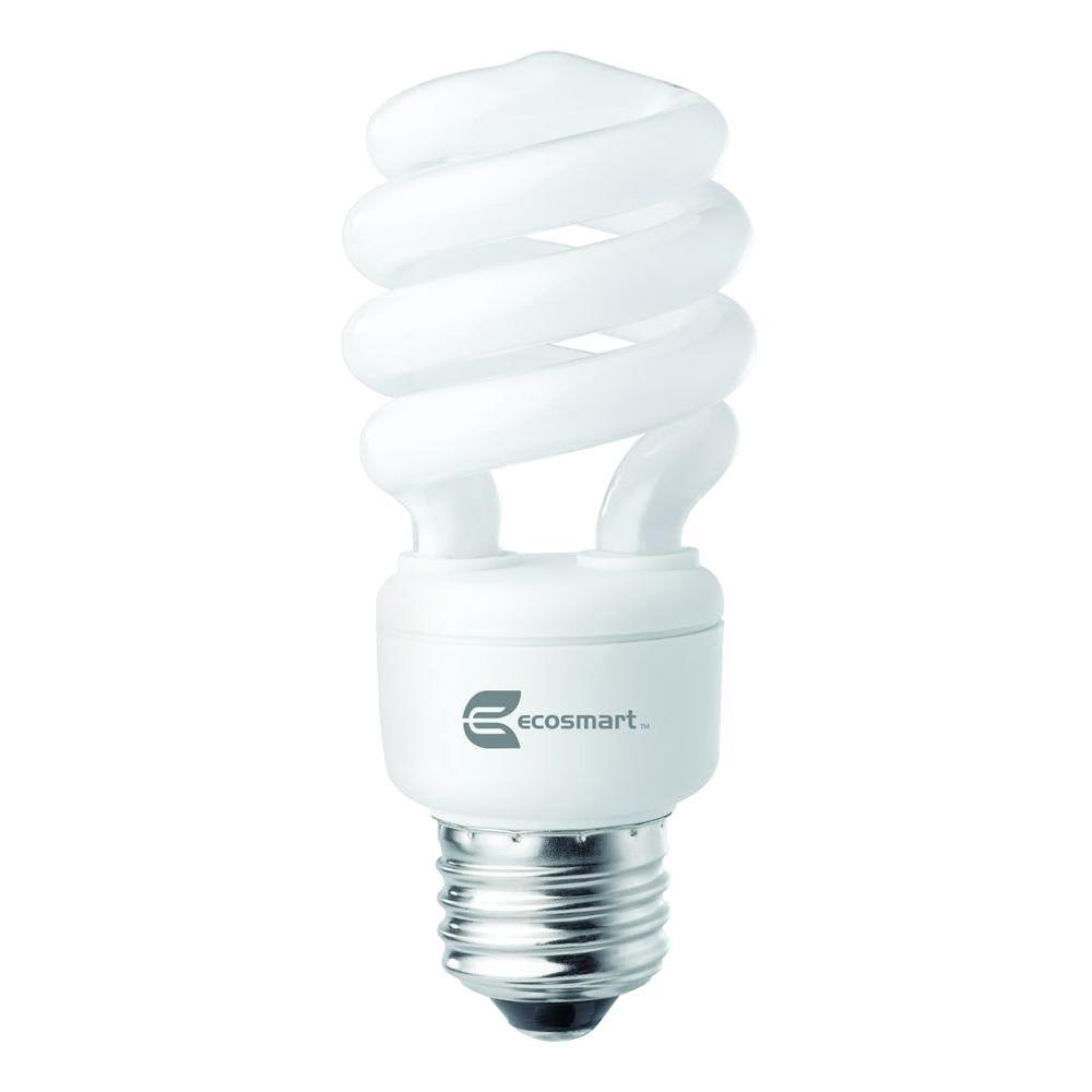 EcoSmart 60W Equivalent Daylight  Spiral CFL Light Bulb (8-Pack)
