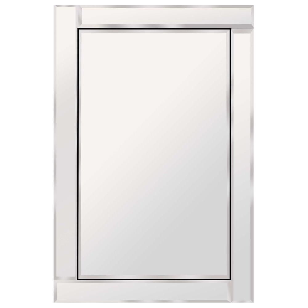 Glacier Bay Brazin 31 in. x 24 in. Wall Mirror-900240 - The Home Depot