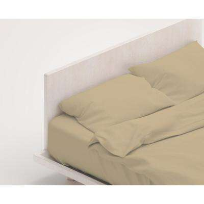 100% Organic Cotton Solid Wrinkle Resistant Sheet Set