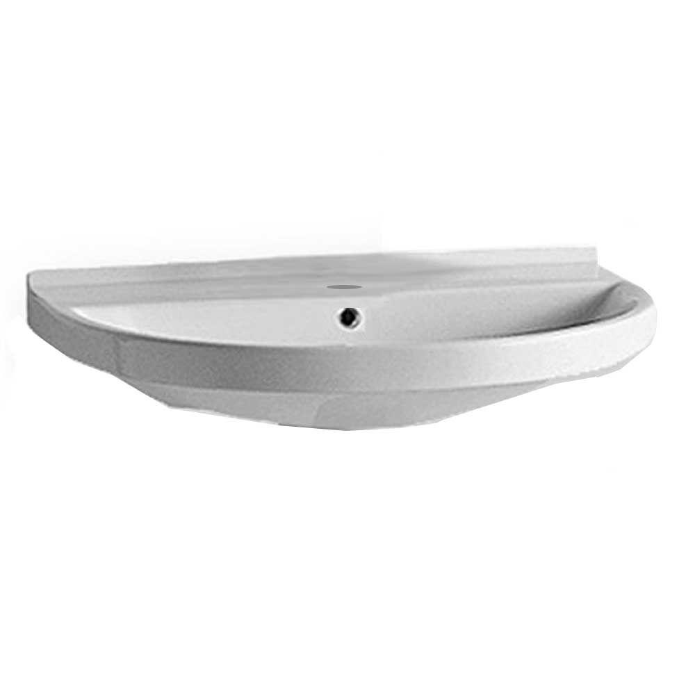 China Series Wall-Mounted Bathroom Sink in White