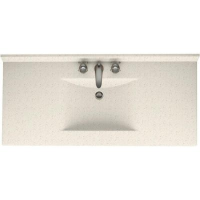 Contour 49 in. Solid Surface Vanity Top with Basin in Tahiti Matrix