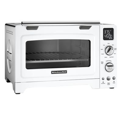 KitchenAid-2000 W 4-Slice White Convection Toaster Oven with Non-Stick Pan, Broiling Rack and Cooling Rack