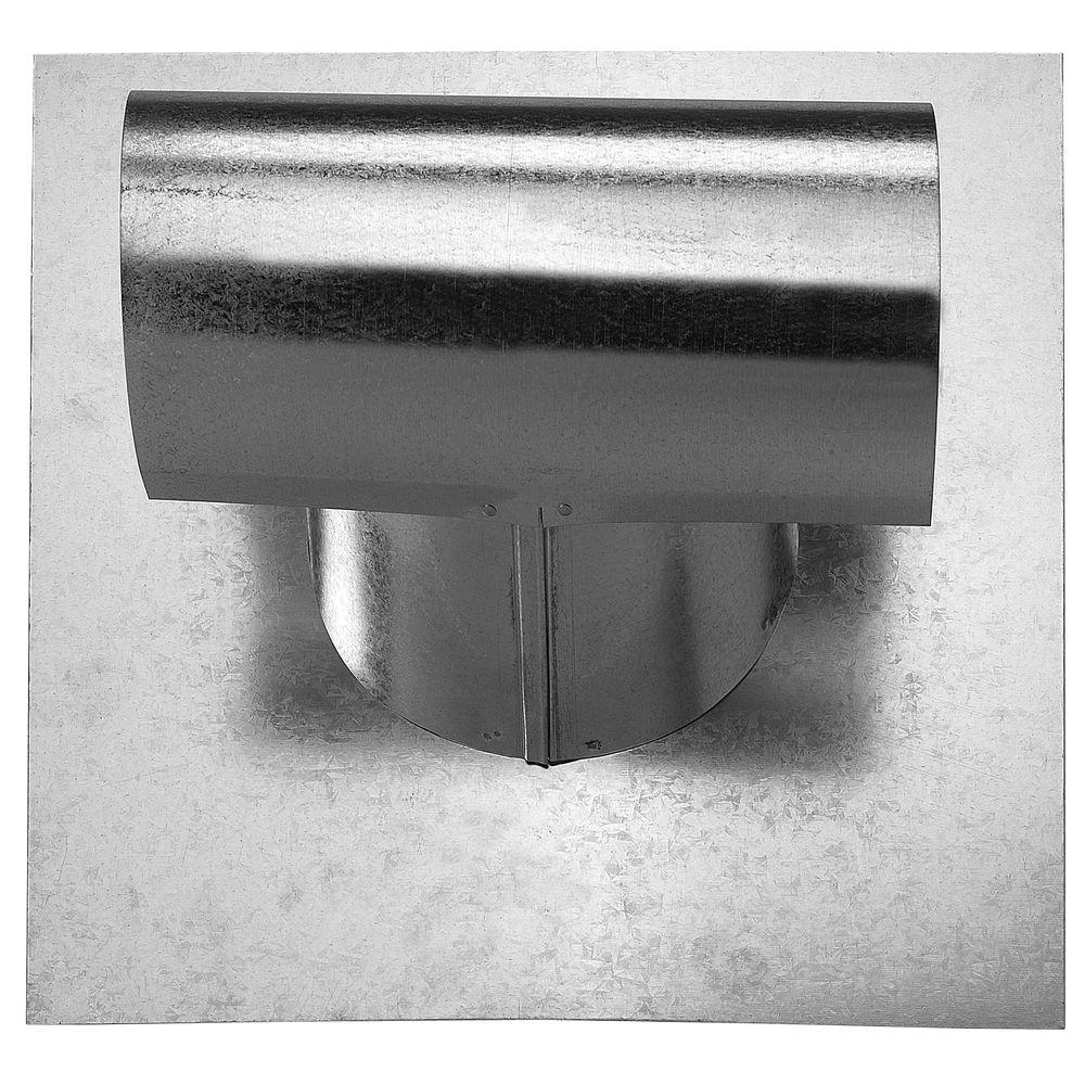 T-Top 4 in. Galvanized Steel Exhaust Vent Pipe Flashing