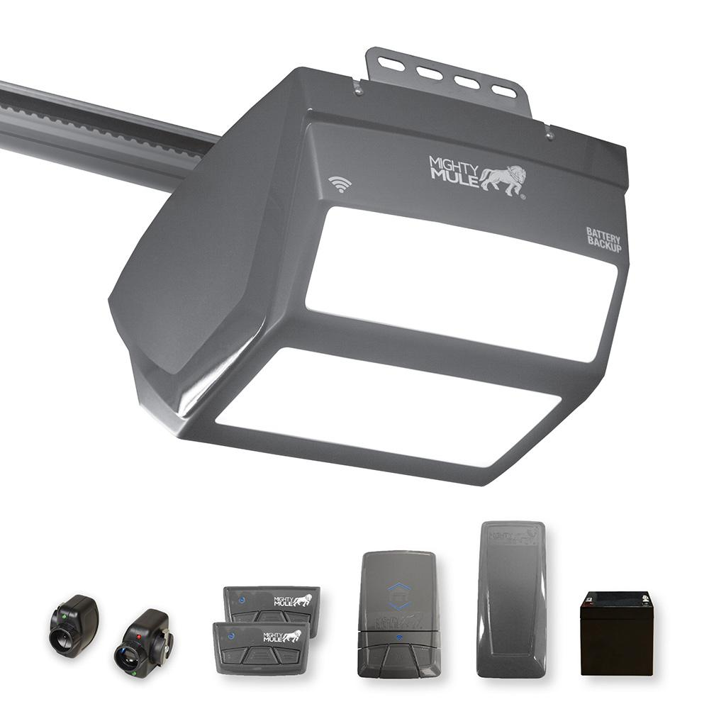 Residential Garage Led Lights: Mighty Mule 1-1/4 HP Smartphone Controlled Garage Door