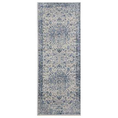 Clairmont Larnaca Denim Blue 2 ft. 7 in. x 7 ft. 2 in. Runner Rug