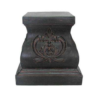 18.25 in. Aged Charcoal Finish Stone Pedestal