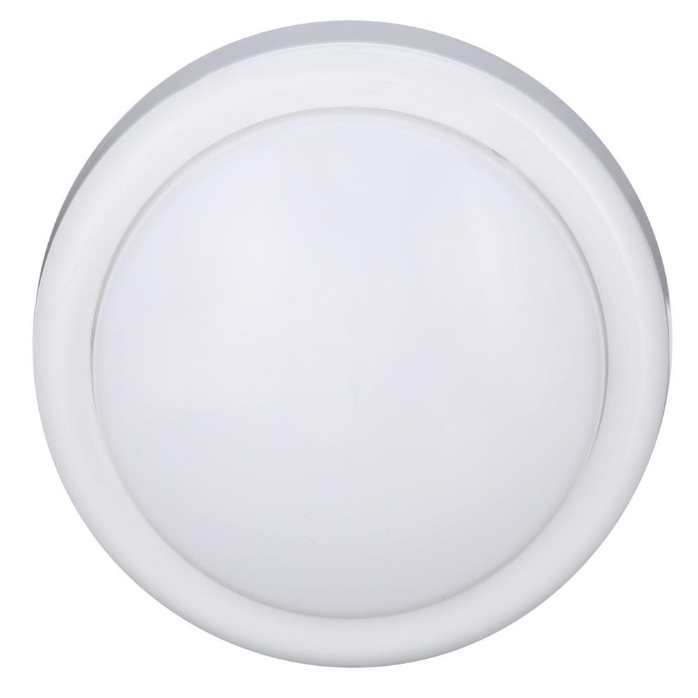 GE-1-Light White Battery Operated Round Mini Tap Light