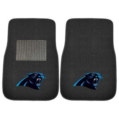 NFL - Carolina Panthers 17 in. x 25.5 in. 2-Piece Set of Embroidered Car Mat
