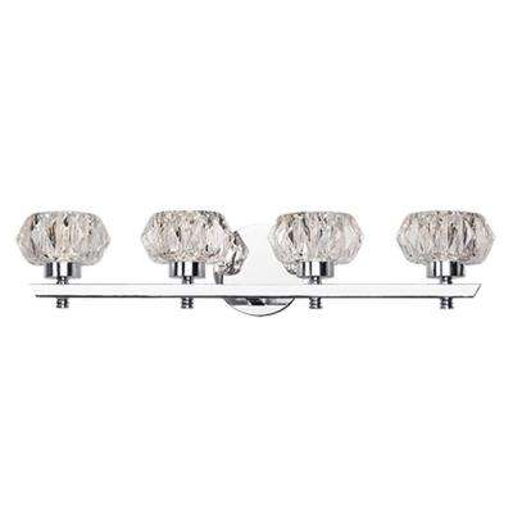 Nevaeh 1-Light Chrome 60-Watt Equivalence Integrated LED Bath Light