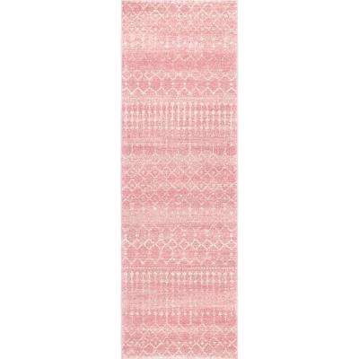 Moroccan Blythe Pink 2 ft. 8 in. x 8 ft. Runner Rug
