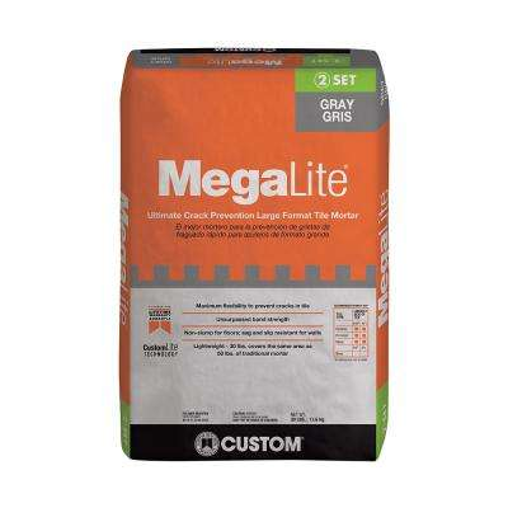 MegaLite Gray 30 lb. Crack Prevention Mortar