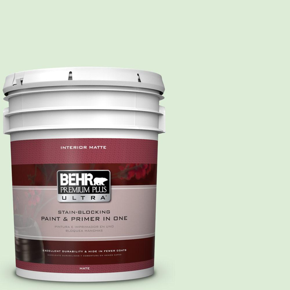 BEHR Premium Plus Ultra 5 gal. #M390-2 Misty Meadow Matte Interior Paint