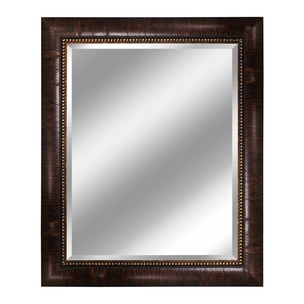 Deco Mirror Savannah 28 in. x 34 in. Mirror in Teak