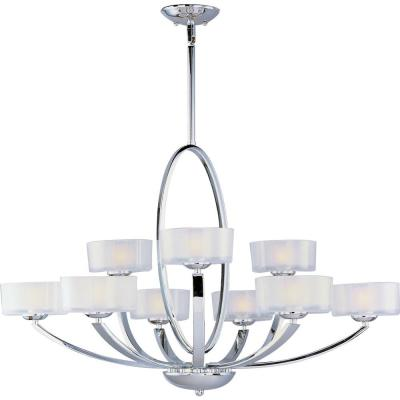 Maxim Lighting Elle 9-Light Polished Chrome Multi-Tier Chandelier