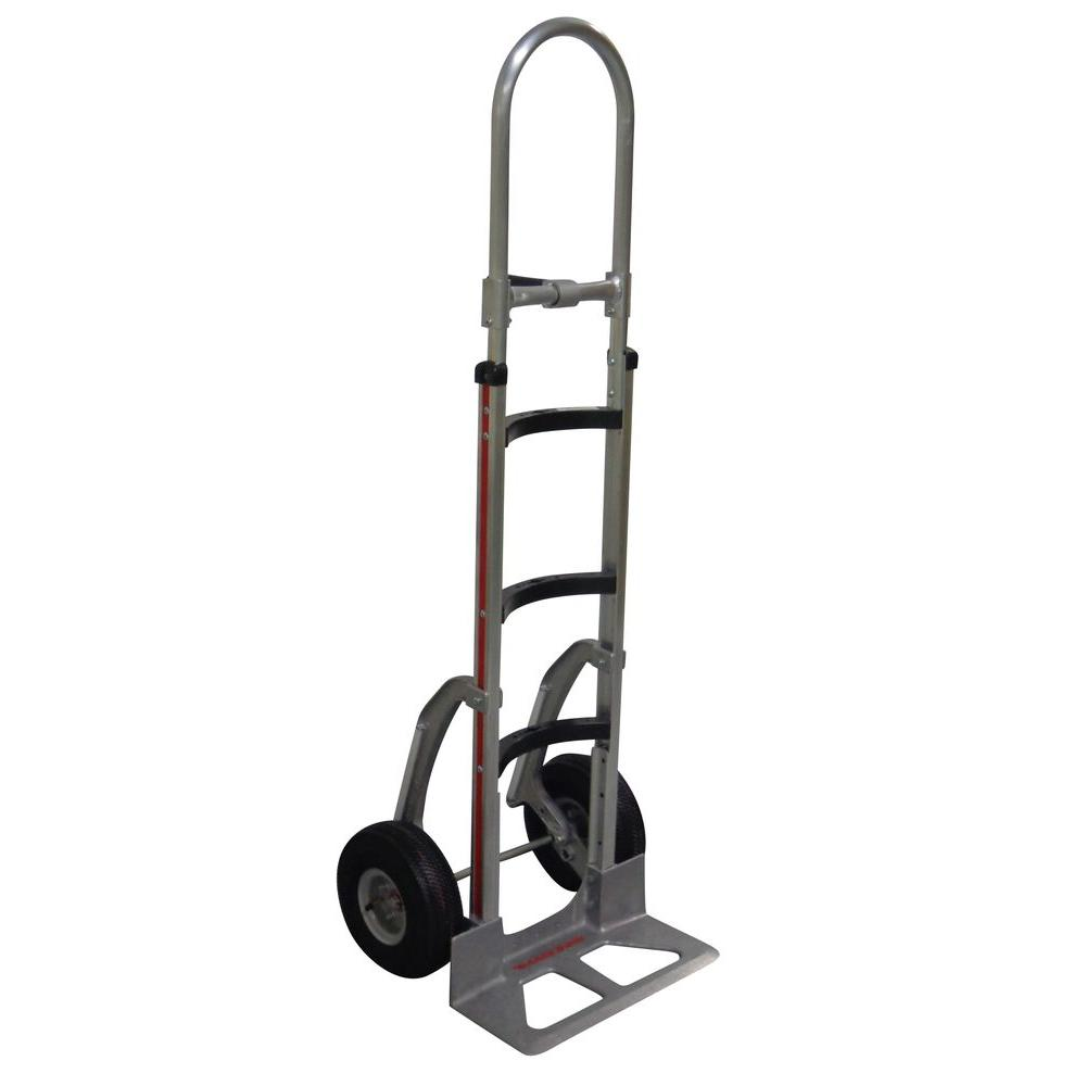500 lb. Capacity Hand Truck with Curved Frame, Vertical Loop Handle,