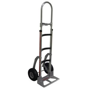 Magliner 500 lb. Capacity Hand Truck with Curved Frame, Vertical Loop Handle, Cast Nose Plate, Pneumatic... by