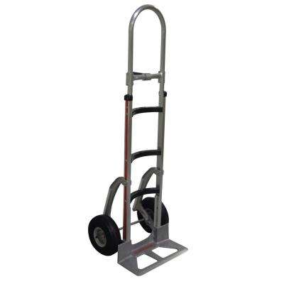 500 lb. Capacity Hand Truck with Curved Frame, Vertical Loop Handle, Cast Nose Plate, Pneumatic Wheels, Stairclimbers