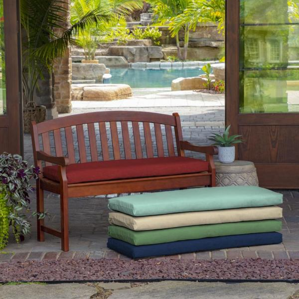 Arden Selections 46 In X 17 In Ruby Leala Texture Outdoor Bench Cushion Tg06641b D9z1 The Home Depot