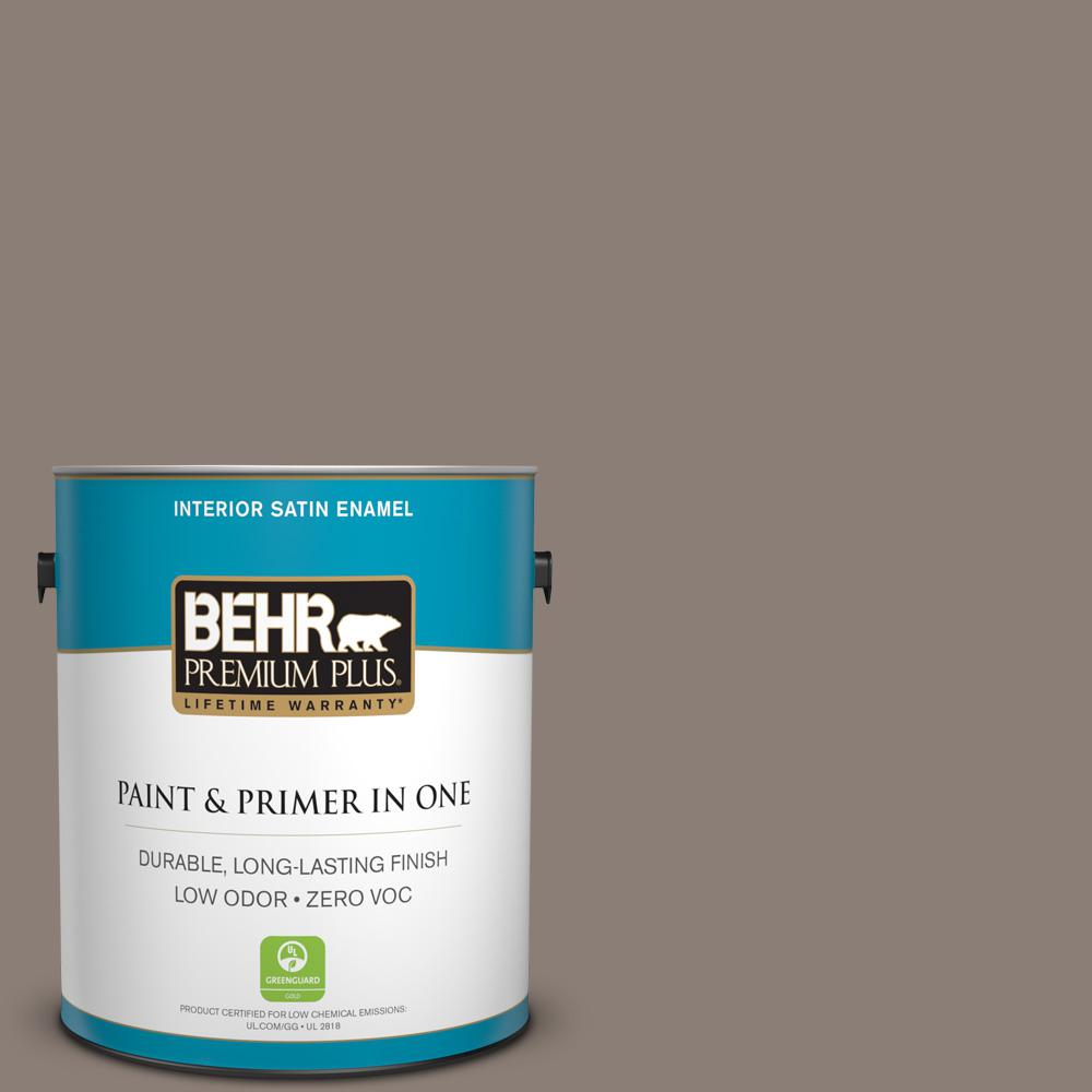 1 gal. #HDC-NT-27B Wild Truffle Zero VOC Satin Enamel Interior Paint