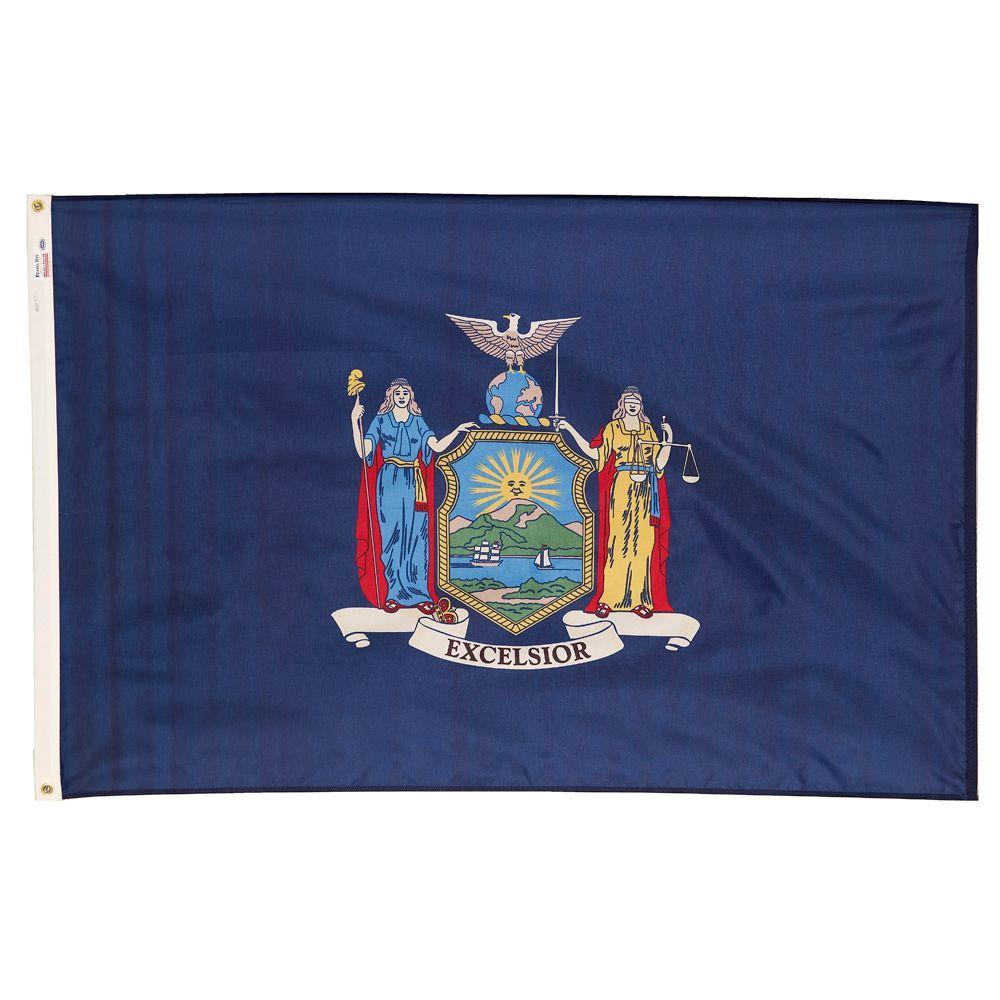 3 ft. x 5 ft. Nylon New York State Flag