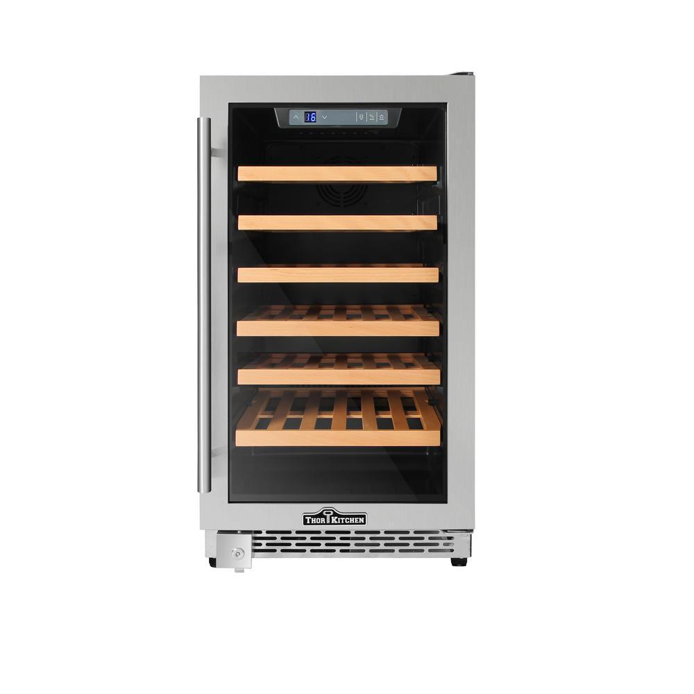 Thor Kitchen 18 In 40 Bottle Single Zone Built In Wine Cooler