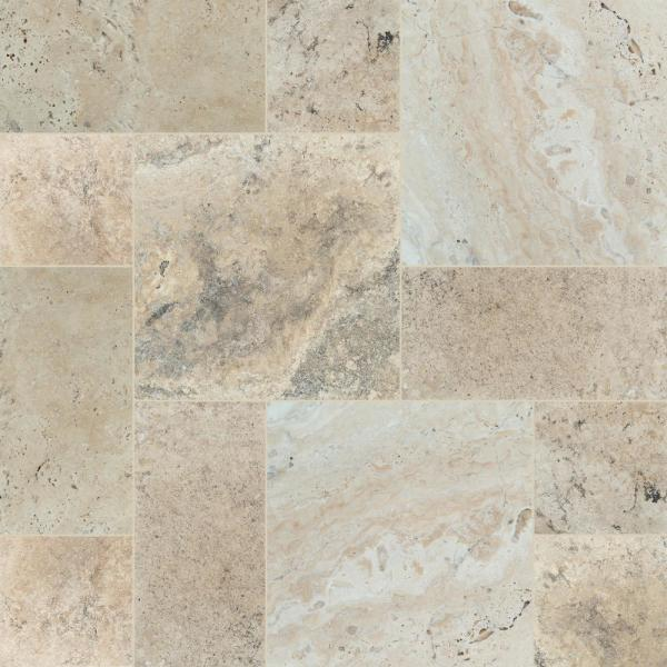 Philadelphia Pattern Honed-Unfilled-Chipped-Brushed Travertine Floor and Wall Tile (5 kits / 80 sq. ft. / pallet)