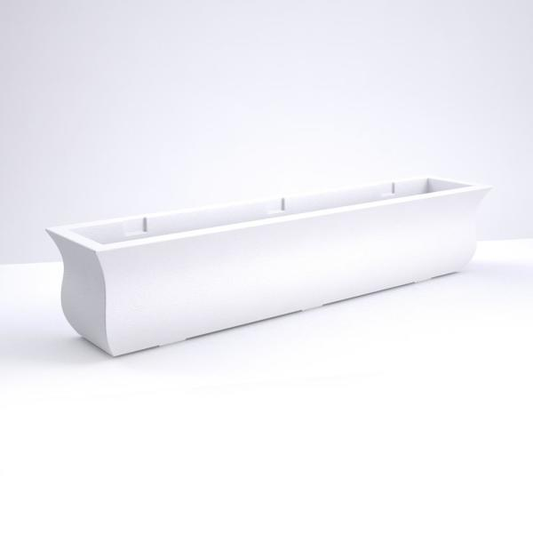 Valencia 4 ft. White Resin Plastic Window Box