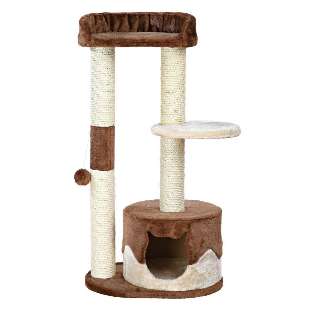 Brown/Beige Pillar Cat Tree