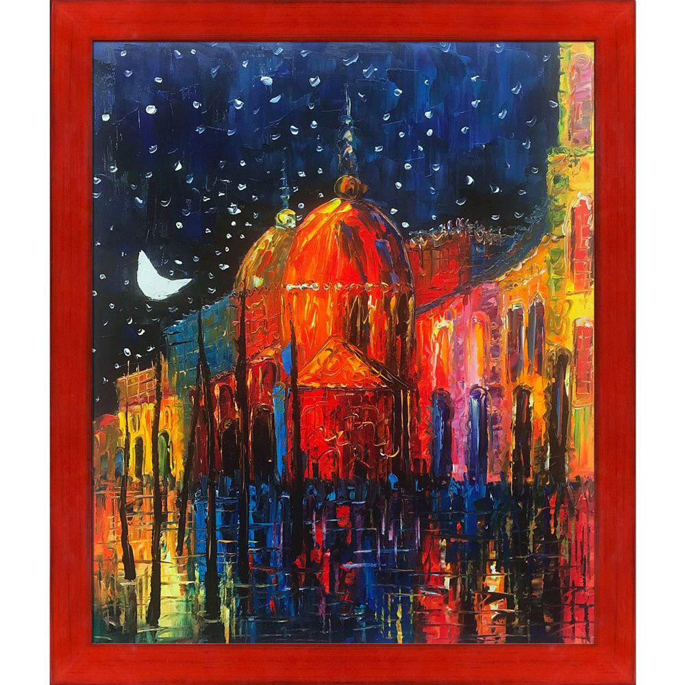 ArtistBe Night Reproduction with Stiletto Red Frameby Justyna Kopania Canvas Print, Multi-color was $831.0 now $400.9 (52.0% off)