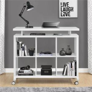 Altra Furniture Lincoln White Standing Desk with Shelves by Altra Furniture
