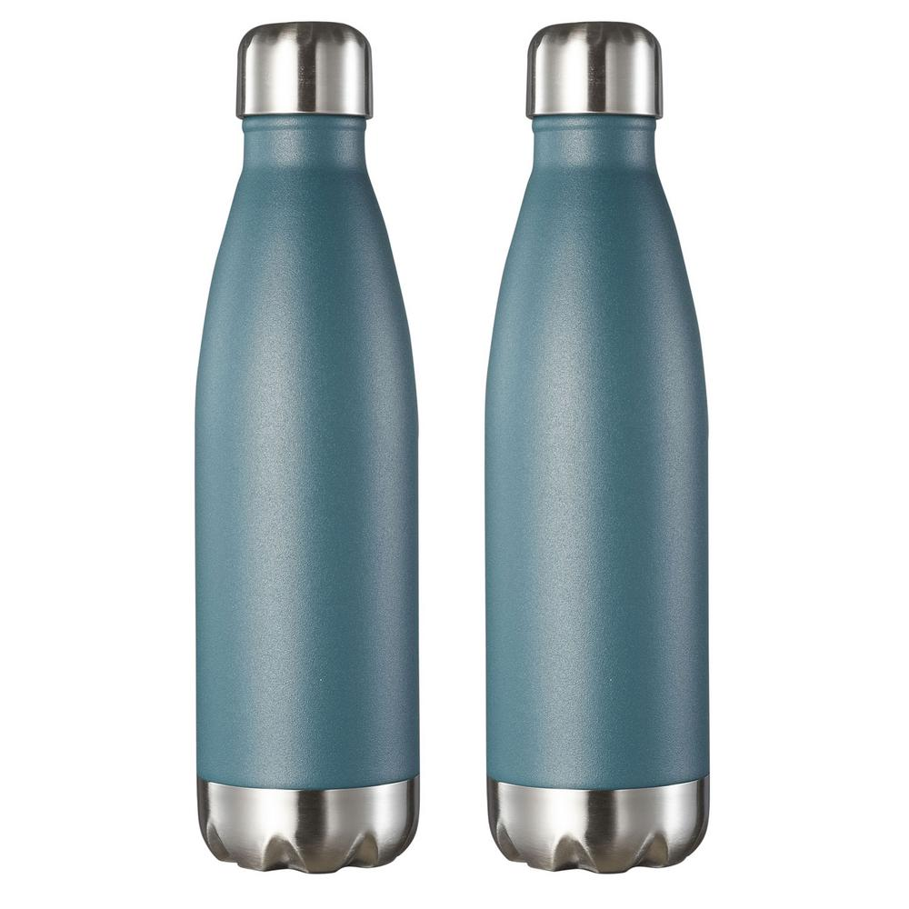 128f77f4c684 Visol Marina 16 oz. Turquoise Blue Double Wall Stainless Steel Water ...