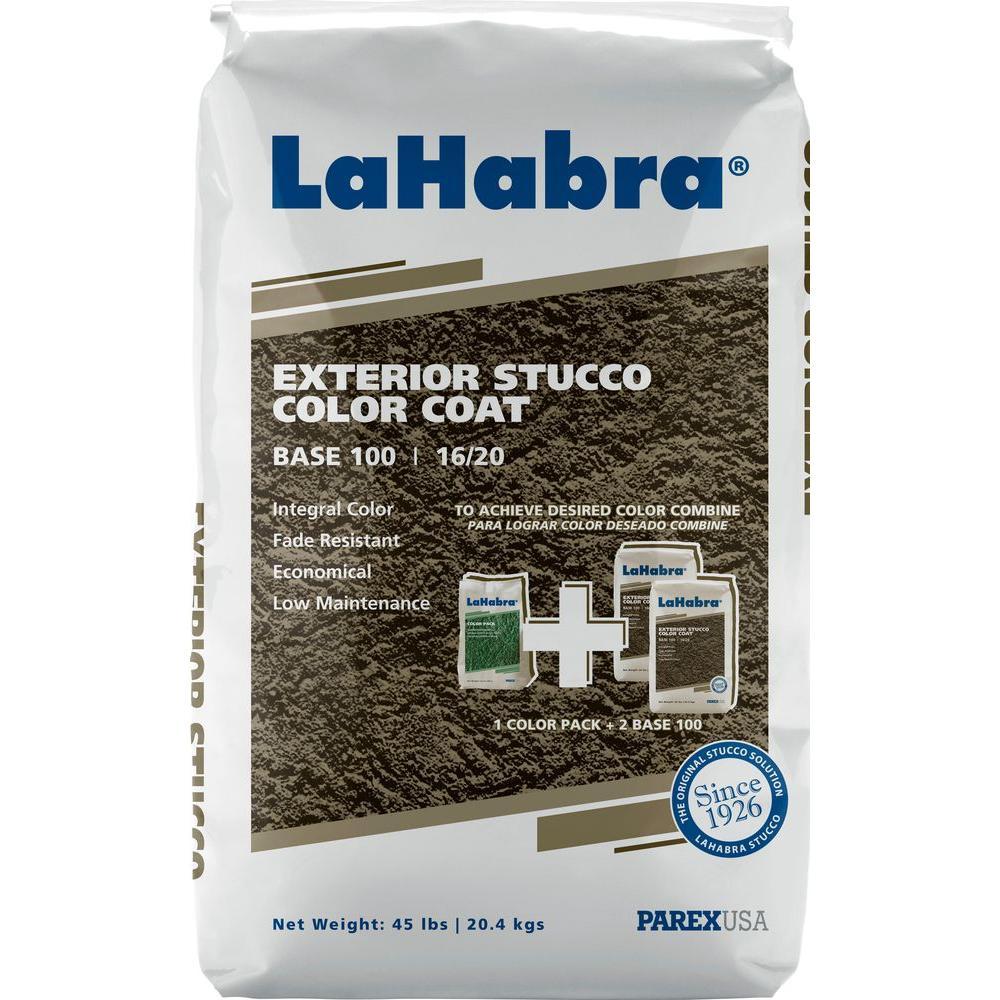 LaHabra 45 lb. Exterior Stucco Color Coat Base 100 16/20 White