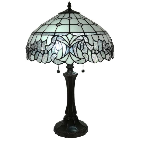 18 in. Tiffany Style White Table Lamp