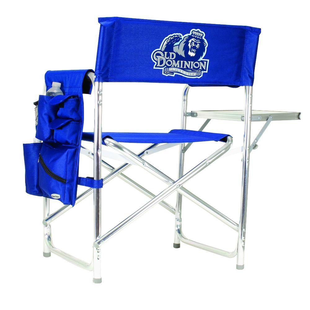 Picnic Time Old Dominion University Navy Sports Chair with Digital Logo