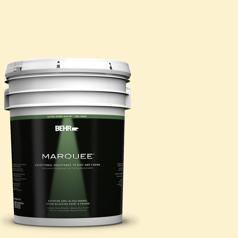 BEHR MARQUEE 5-gal. #380C-2 Desert Lily Semi-Gloss Enamel Exterior Paint