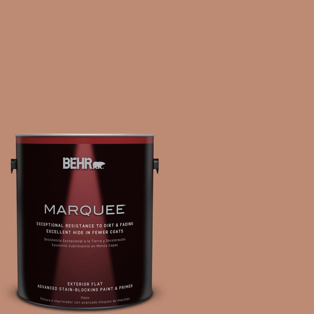 BEHR MARQUEE 1-gal. #230F-5 Suntan Glow Flat Exterior Paint